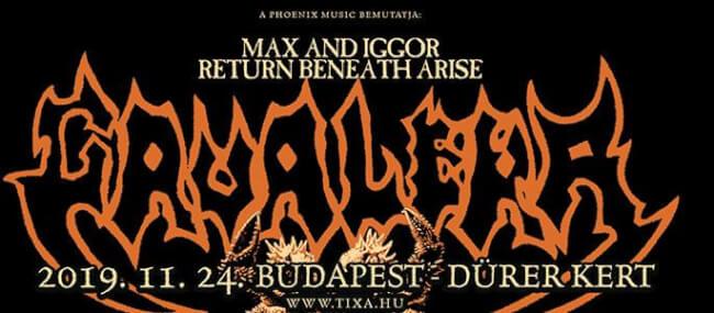 Max and Iggor Cavalera return to Beneath and Arise (US) Dürer Kert