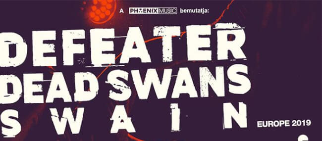 Defeater (US), Dead Swans (UK), Swain (NL) Dürer Kert