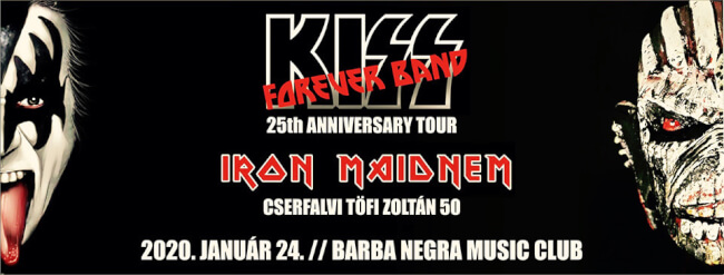 KISS Forever Band | Iron Maidnem Barba Negra