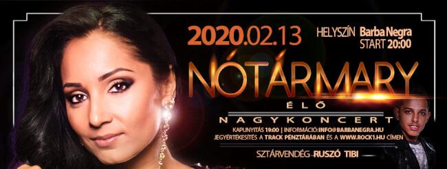 NOTÁR MARY Nagyzenekaros Koncert Barba Negra
