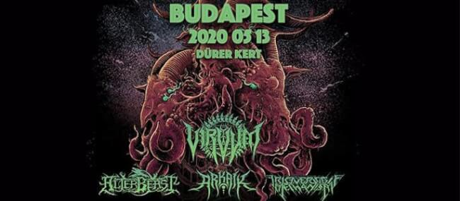Elhalasztva! - Virvum (CH), Alterbeast (US), Arkaik (US), Irreversible Mechanism (BY) Dürer Kert